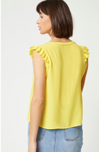 Load image into Gallery viewer, Lemon Yellow Sleeveless Top Liddy