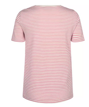 Load image into Gallery viewer, Kenia Glam Stripe V-neck - Sugar Coral