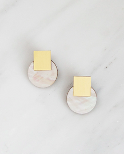 Sol Studs in Mother of Pearl