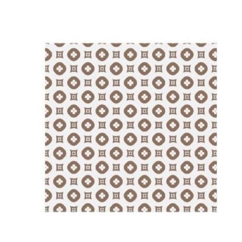 White & Beige Pattern Face Covering