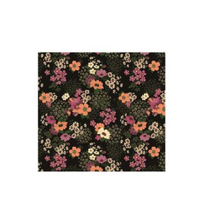 Black Spring Daisies Face Covering
