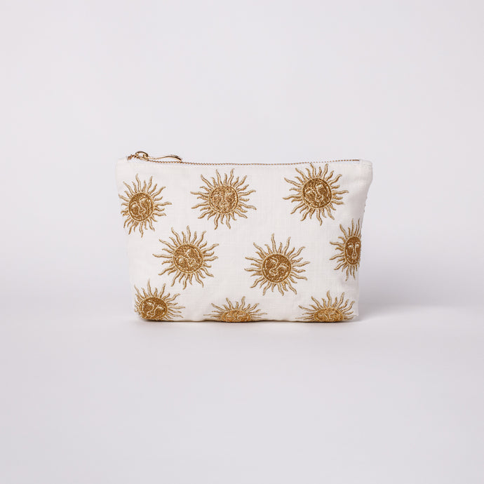 Sun Goddess White Make up bag