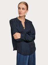 Load image into Gallery viewer, Night long sleeve mocked shoulder blouse