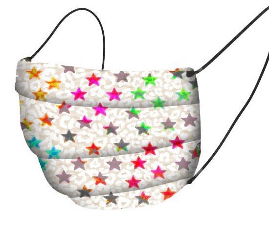 Organic Cotton Face Mask Covering - Stars