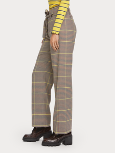 Wide leg high rise trouser
