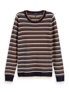 Navy and bronze stripe sweater