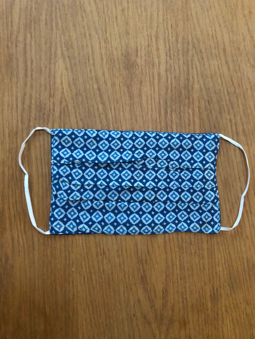 Unisex -  Blue Pattern Face Covering
