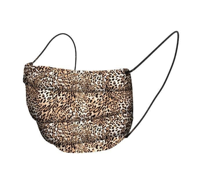 Organic Cotton Face Mask Covering - Brown Leopard