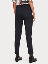 Load image into Gallery viewer, Navy mid rise stretch tailored trouser