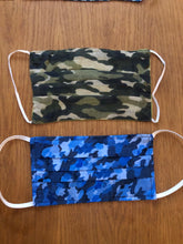 Load image into Gallery viewer, Unisex Blue Camouflage Face Covering