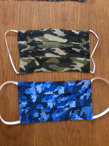 Unisex Blue Camouflage Face Covering