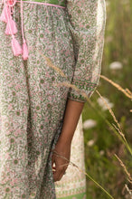 Load image into Gallery viewer, Pink & Green Boho Dress