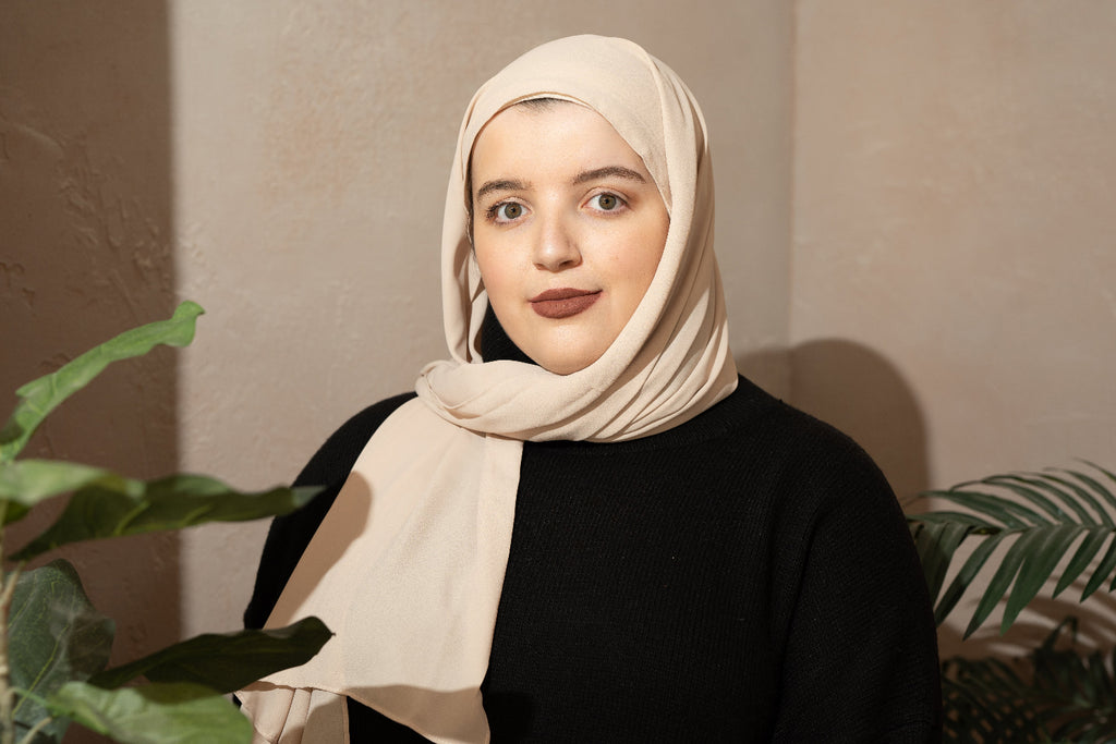 Muslim woman wearing halal makeup look from Infinitely Classic