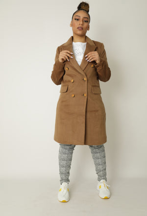 Manteau velours long