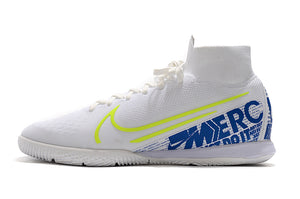 Chuteira Nike Mercurial Superfly 7 Elite Futsal IC - Branco e Verde
