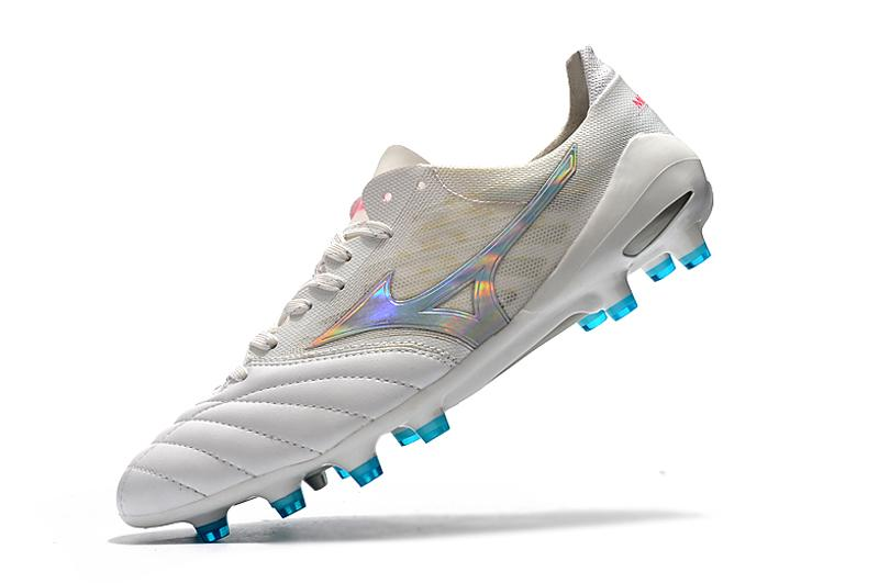 Chuteira Mizuno Morelia Neo 2 Made In Japan - Branco/Azul/rosa