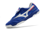 Chuteira Mizuno Morelia Elite As II Pro Society TF - Azul/Branco