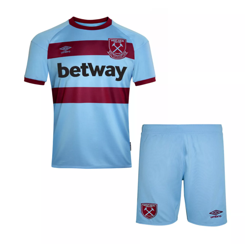 Camisa e Shorts West Ham United II - Puma Infantil