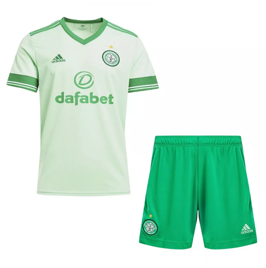 Camisa e Shorts Celtic FC Away - Adidas Infantil