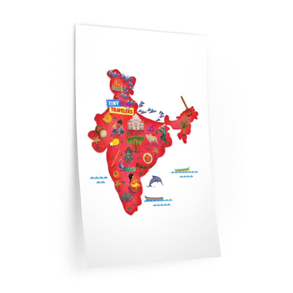 Tiny Travelers India Wall Decal