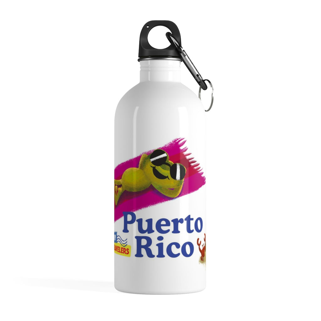 Tiny Travelers Puerto Rico Stainless Steel Water Bottle