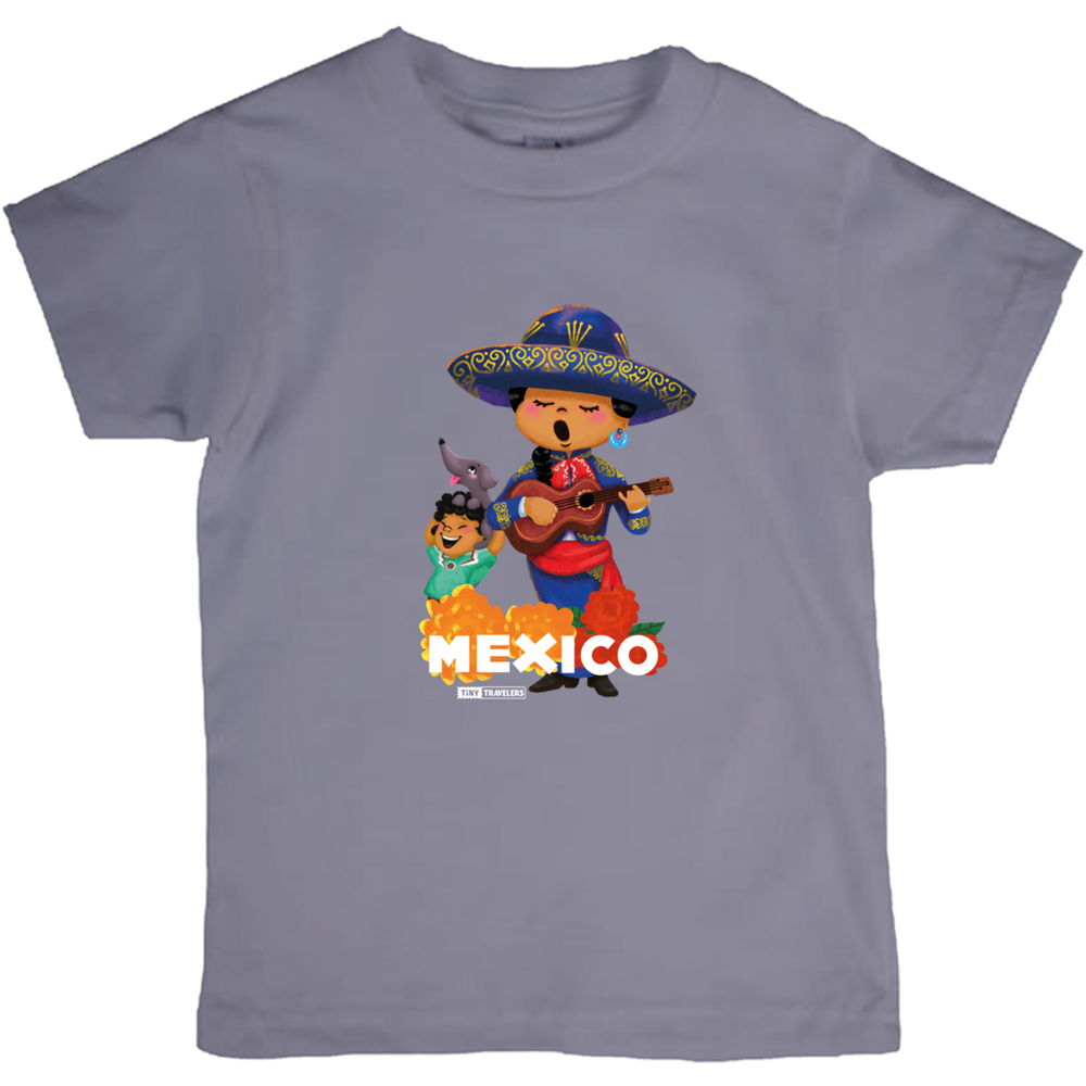 Tiny Travelers Mexico Kids T-Shirts