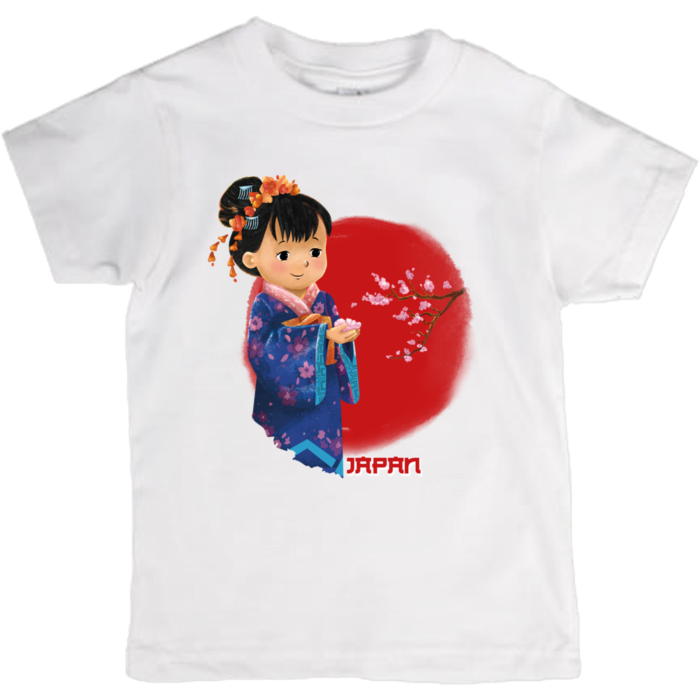 Tiny Travelers Japan Kids T Shirt
