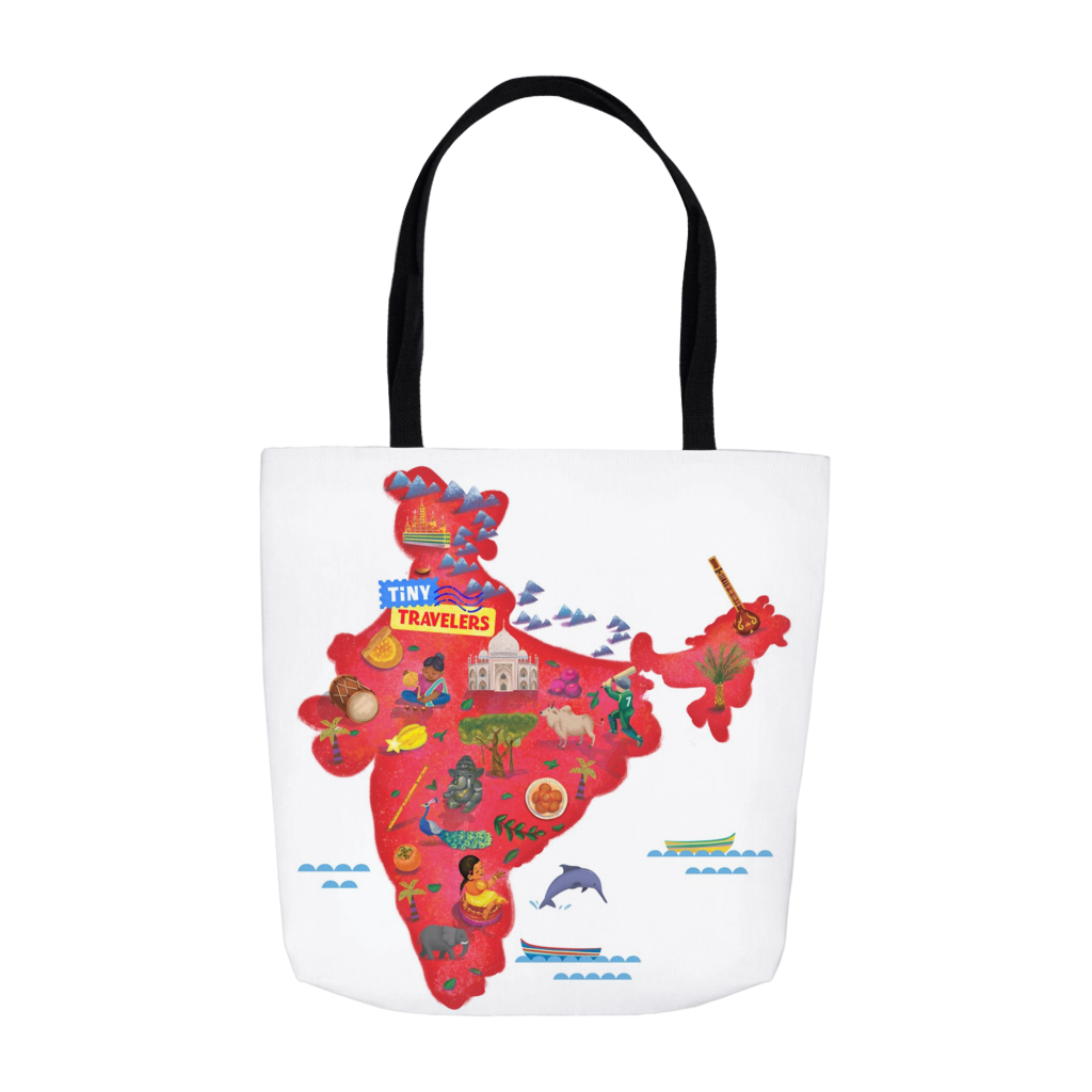 Tiny Travelers India Tote Bag