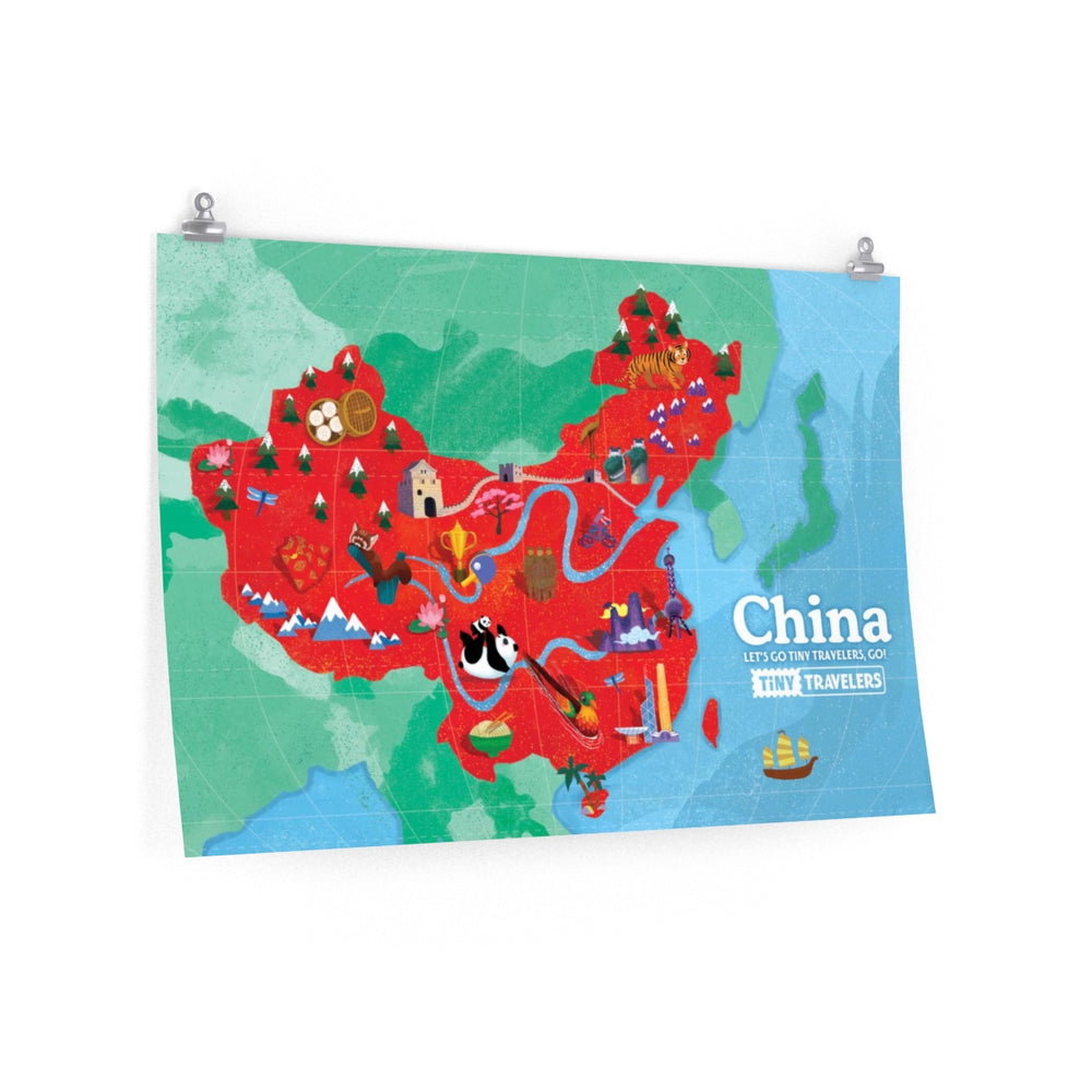 Tiny Travelers China Map Premium Matte Poster