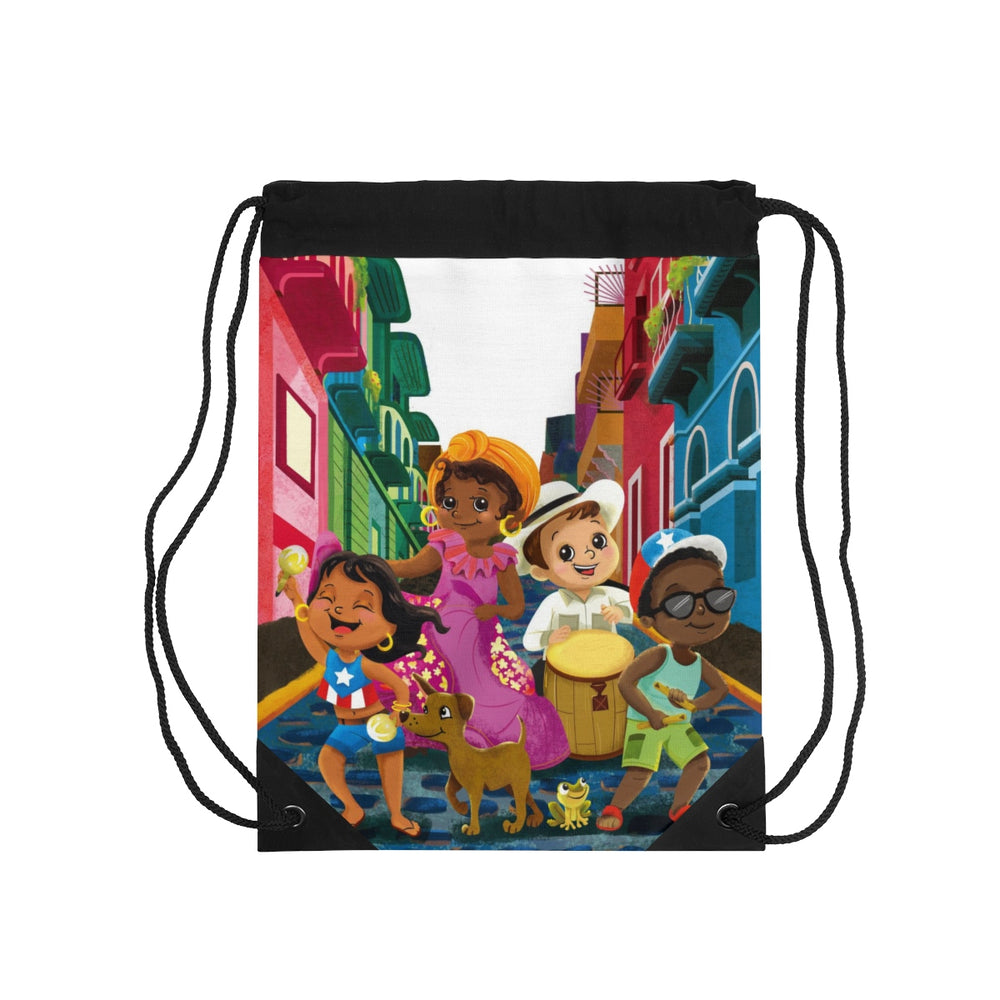 Tiny Travelers Puerto Rico Drawstring Bag