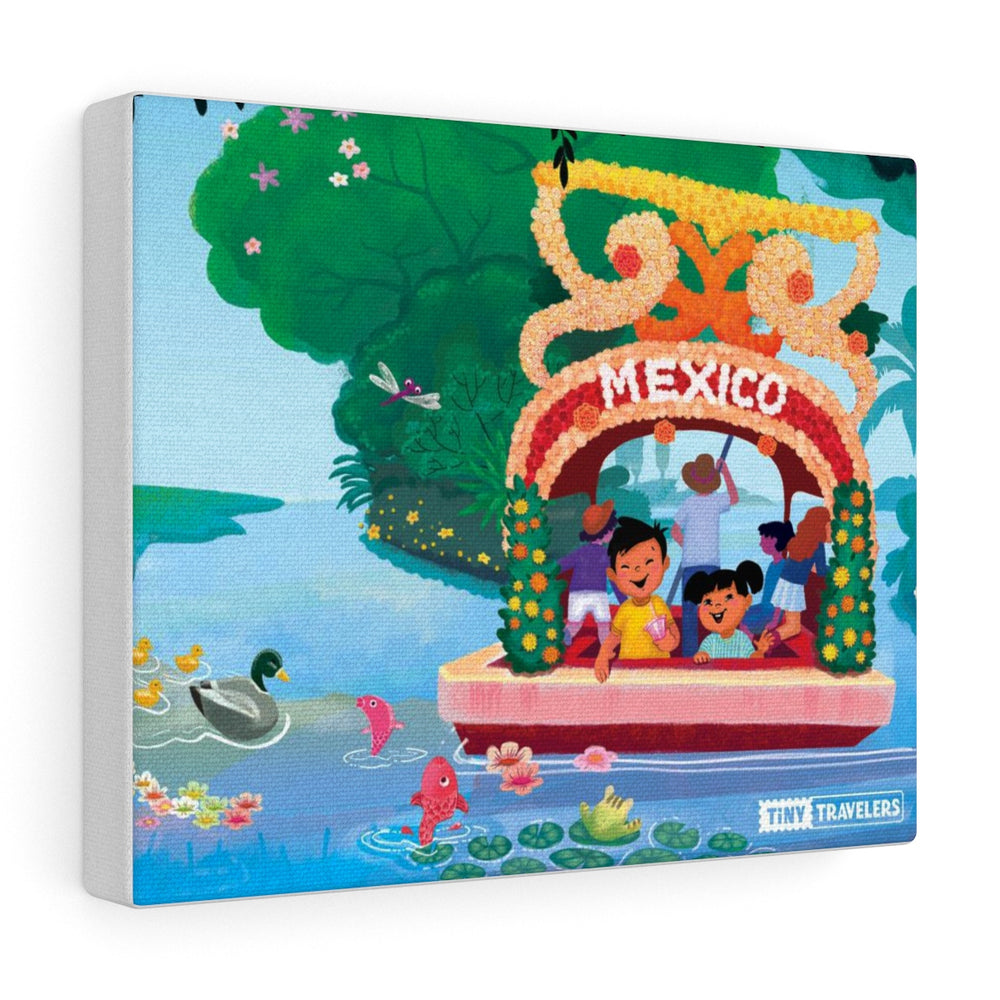 Tiny Travelers Mexico Xochimilco Canvas Gallery Wrap