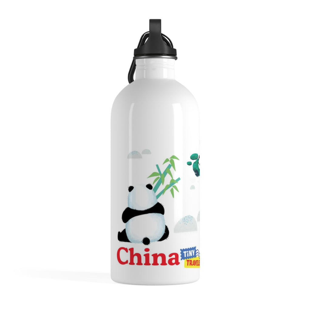 Tiny Travelers Pandas Stainless Steel Water Bottle