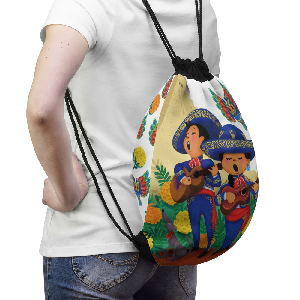 Tiny Travelers Mexico Drawstring Bag