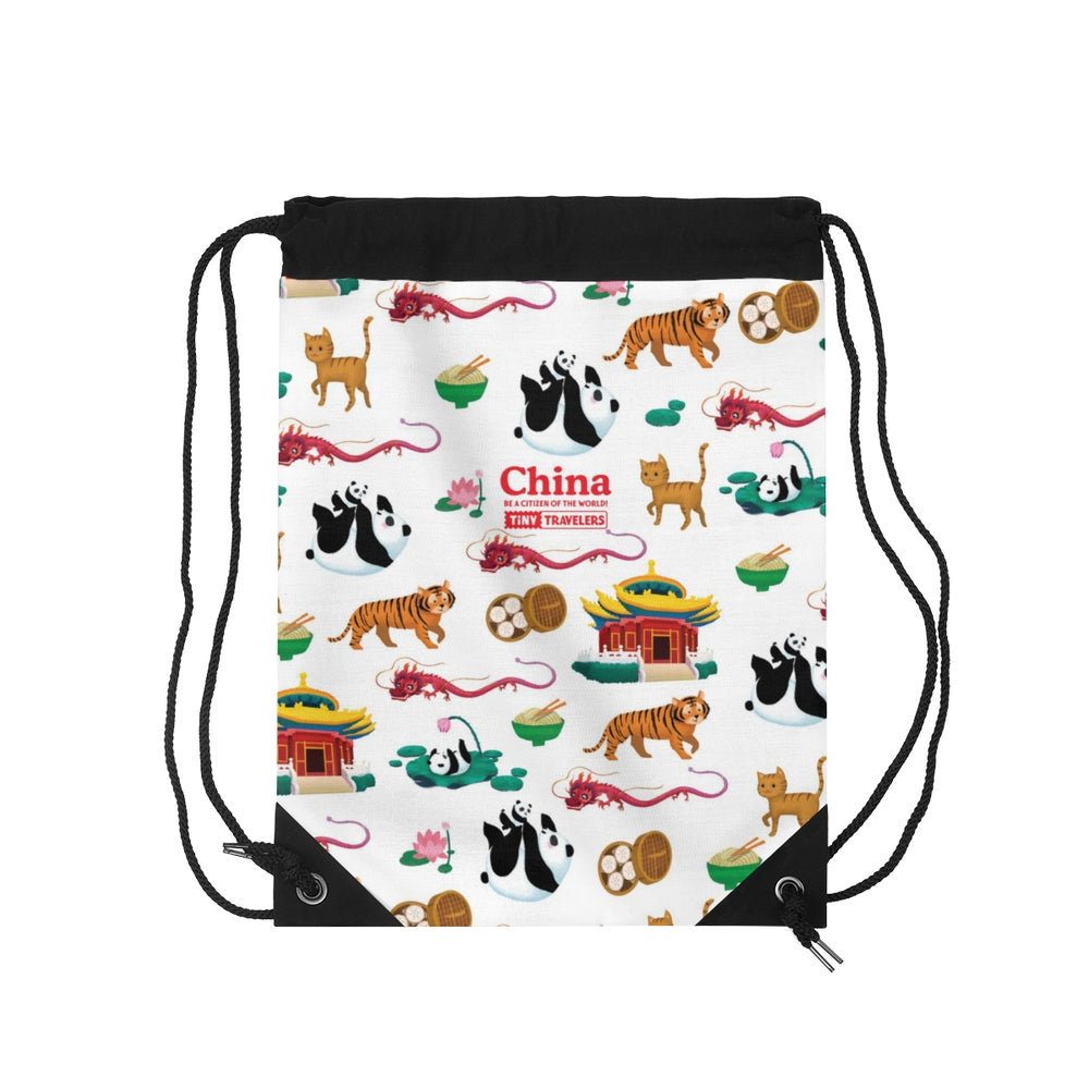 Tiny Travelers China Drawstring Bag