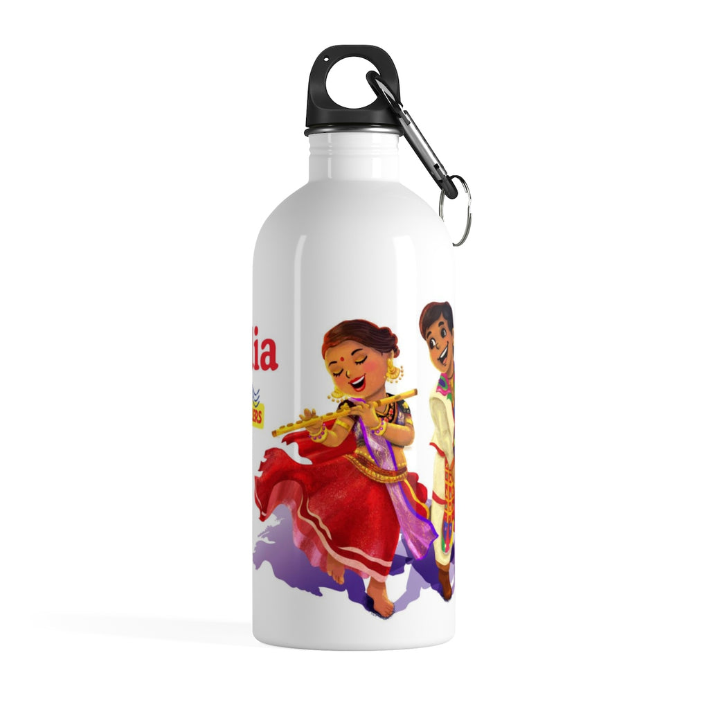 Tiny Travelers India Stainless Steel Water Bottle