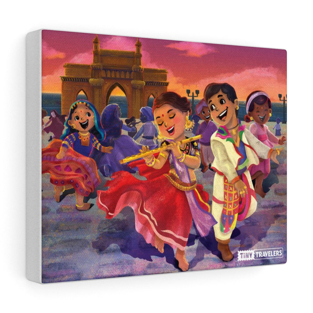 Tiny Travelers India Bollywood Canvas Gallery Wrap