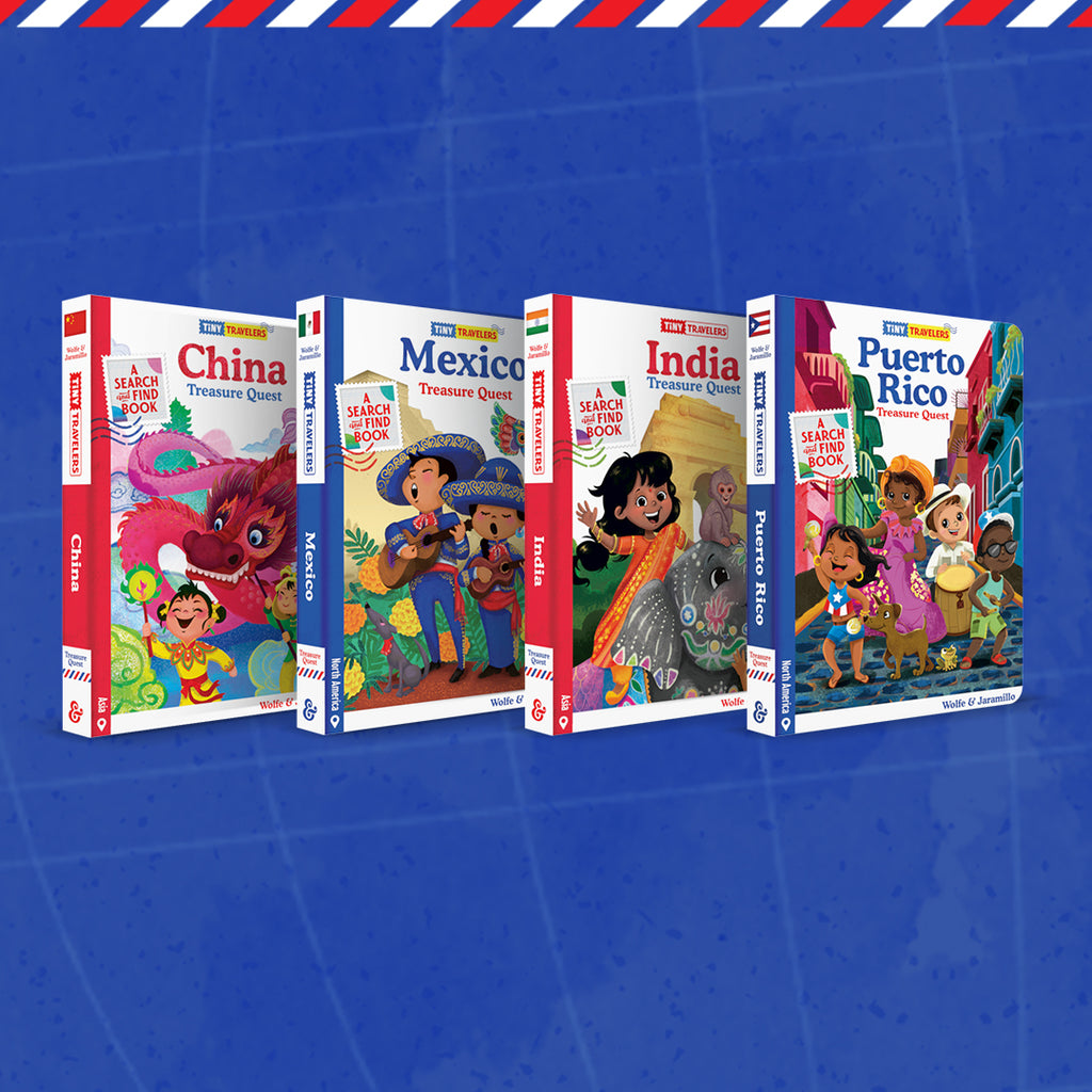 FLASH SALE Tiny Travelers 4 Book Bundle: China, Mexico, India, Puerto Rico