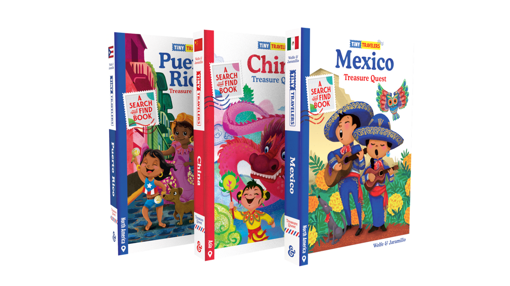 Tiny Travelers 3 Book Bundle: Mexico, China, Puerto Rico