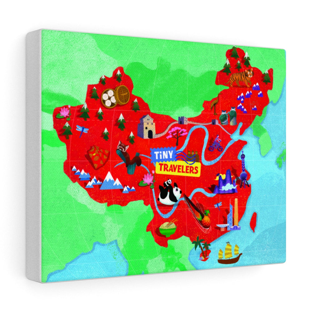 Tiny Travelers China Map Canvas Gallery Wrap