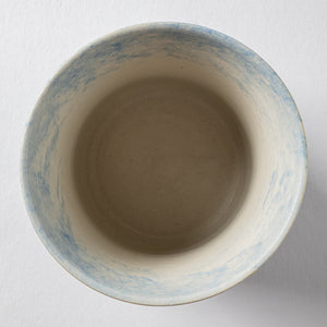 Writer Yuko Iwasa Matt Glass Small (Bleu) -I00088-Writer Yuko Iwasa-Adult Pottery Online Shop