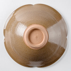 Masamine kiln flower-shaped bowl (pink)-K00108-Tamba ware Masamine kiln-Adult pottery online shop