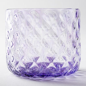 Nanako Pattern Rock Glass Amethyst -K00247- Glass Writer Hiroaki Sakata-Adult Pottery Online Shop