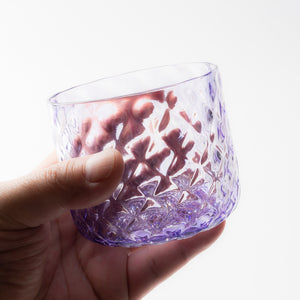 Nanako Pattern Rock Glass Amethyst -K00247-Glass Writer Hiroaki Sakata-Adult Pottery Online Shop