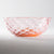 Nanako Pattern Bowl Plate Saumon Rose-K00249-Glass Writer Hiroaki Sakata-Adult Pottery Online Shop