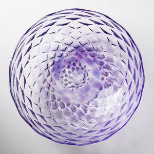 Nanako Pattern Bowl Plate Amethyst-K00253-Glass Writer Hiroaki Sakata-Adult Pottery Online Shop