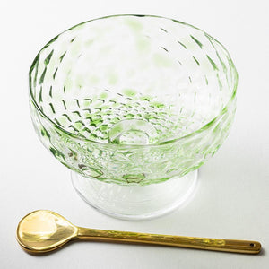 Nanako Pattern Compport Matsuba Color-K00260-Glass Writer Hiroaki Sakata-Adult Pottery Online Shop