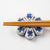 Writer Miki Sato Chopstick Rest (Blue Purple)-I00174-Writer Miki Sato-Adult Pottery Online Shop