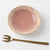 Kasama ware Tofusha gold drop small plate light red makeup & pink