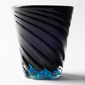 Ryukyu Glass Studio glass32 Blue Cave Bottom Hole Mall Small