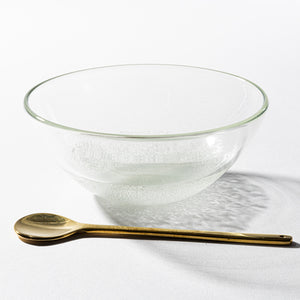 Recycled glass studio Tetoto Murakumo small bowl (clear)